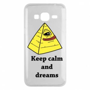 Etui na Samsung J3 2016 Keep calm and dreams