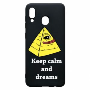 Etui na Samsung A20 Keep calm and dreams