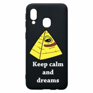 Etui na Samsung A40 Keep calm and dreams