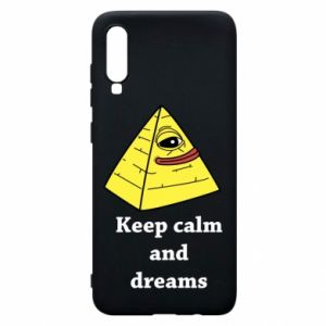 Etui na Samsung A70 Keep calm and dreams