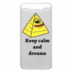 Etui na Samsung A80 Keep calm and dreams