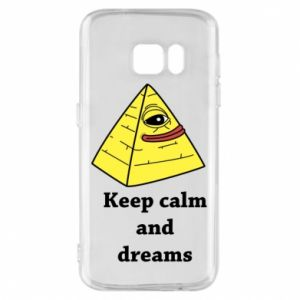 Etui na Samsung S7 Keep calm and dreams