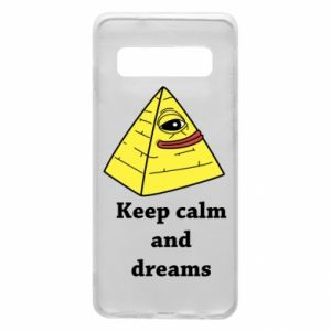 Etui na Samsung S10 Keep calm and dreams