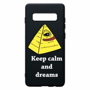 Etui na Samsung S10+ Keep calm and dreams