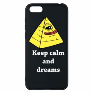 Etui na Huawei Y5 2018 Keep calm and dreams