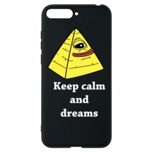 Etui na Huawei Y6 2018 Keep calm and dreams