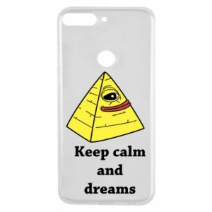 Etui na Huawei Y7 Prime 2018 Keep calm and dreams