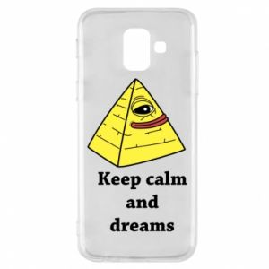 Etui na Samsung A6 2018 Keep calm and dreams
