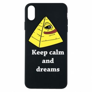 Etui na iPhone Xs Max Keep calm and dreams