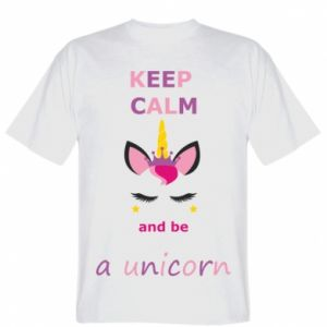 Koszulka Keep calm ant be a unicorn - Printsalon