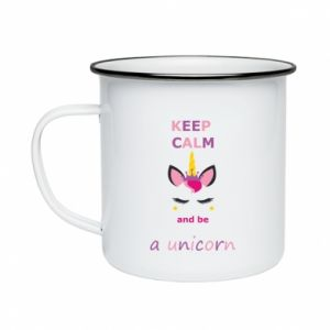 Kubek emaliowane Keep calm ant be a unicorn - Printsalon