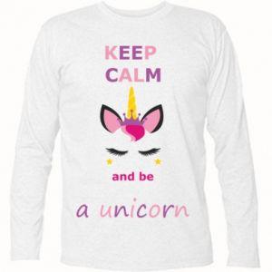 Koszulka z długim rękawem Keep calm ant be a unicorn - PrintSalon