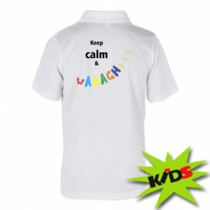 Dziecięca koszulka polo Keep calm & waaagh!!!