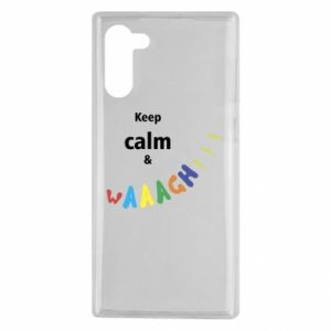 Samsung Note 10 Case Keep calm & waaagh!!!