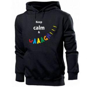 Men's hoodie Keep calm & waaagh!!!