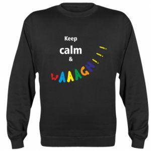 Bluza (raglan) Keep calm & waaagh!!!