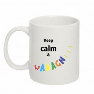 Kubek 330ml Keep calm & waaagh!!!
