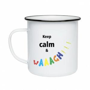 Kubek emaliowane Keep calm & waaagh!!!
