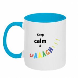 Kubek dwukolorowy Keep calm & waaagh!!!