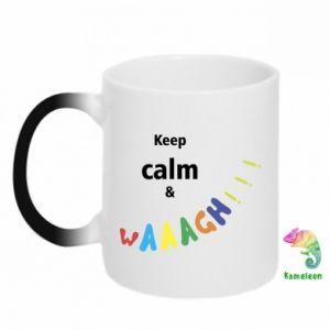Kubek-kameleon Keep calm & waaagh!!!