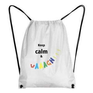Plecak-worek Keep calm & waaagh!!!