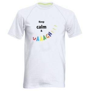 Męska koszulka sportowa Keep calm & waaagh!!!