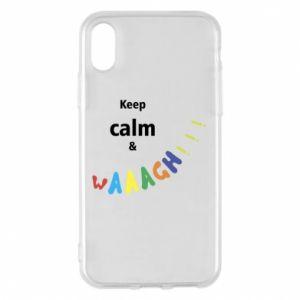 Etui na iPhone X/Xs Keep calm & waaagh!!!