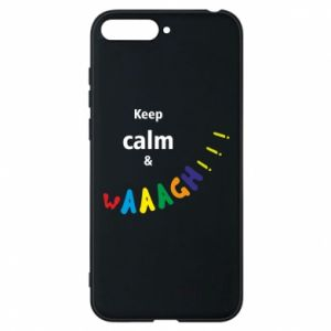 Etui na Huawei Y6 2018 Keep calm & waaagh!!!