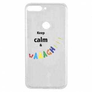 Etui na Huawei Y7 Prime 2018 Keep calm & waaagh!!!