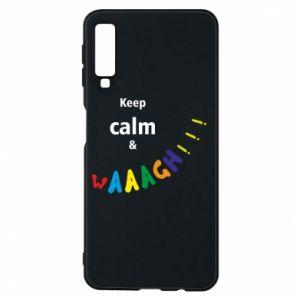 Etui na Samsung A7 2018 Keep calm & waaagh!!!