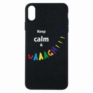 Etui na iPhone Xs Max Keep calm & waaagh!!!