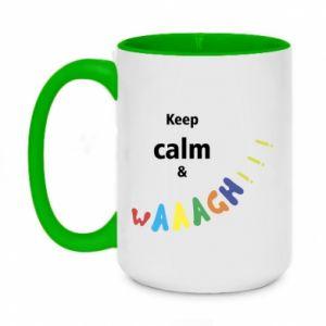 Kubek dwukolorowy 450ml Keep calm & waaagh!!!
