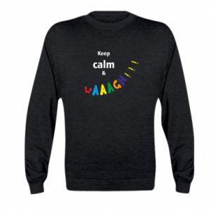 Kid's sweatshirt Keep calm & waaagh!!!