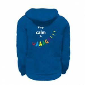 Kid's zipped hoodie Keep calm & waaagh!!!