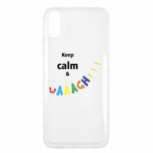 Xiaomi Redmi 9a Case Keep calm & waaagh!!!
