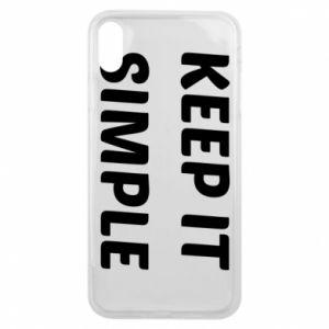Etui na iPhone Xs Max Keep it simple