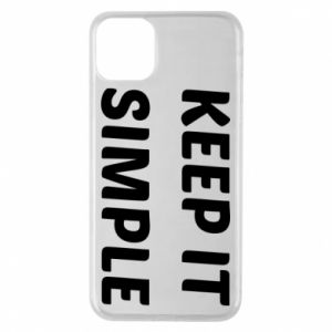 Etui na iPhone 11 Pro Max Keep it simple