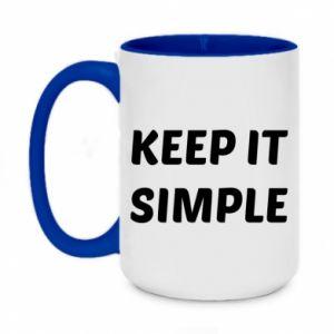 Kubek dwukolorowy 450ml Keep it simple