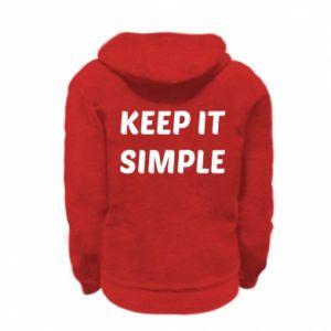 Kid's zipped hoodie % print% Keep it simple