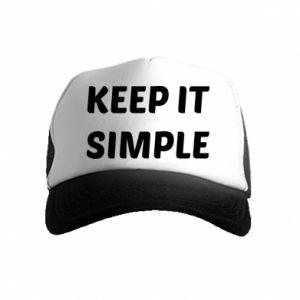 Kid's Trucker Hat Keep it simple