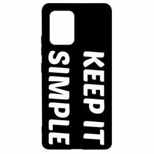 Samsung S10 Lite Case Keep it simple