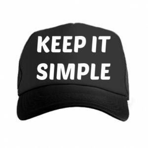 Czapka trucker Keep it simple