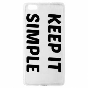 Huawei P8 Lite Case Keep it simple