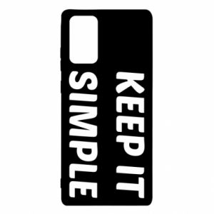 Samsung Note 20 Case Keep it simple