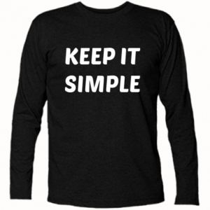 Koszulka z długim rękawem Keep it simple