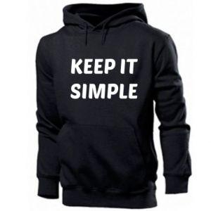Men's hoodie Keep it simple