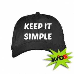 Dziecięca czapeczka z daszkiem Keep it simple