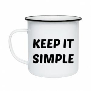 Kubek emaliowane Keep it simple