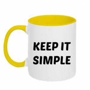 Kubek dwukolorowy Keep it simple