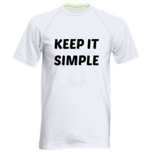 Męska koszulka sportowa Keep it simple